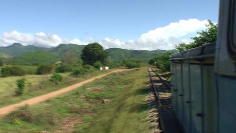 Valle de los Ingenios train view from the train Stock Video Footage