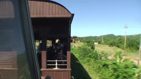 Valle de los Ingenios train view from the train 3 Stock Video Footage