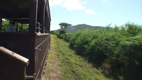 Valle de los Ingenios train view from the train 5 Stock Video Footage