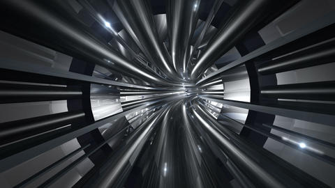 Tunnel tube metal A 01b 2 HD Stock Video Footage