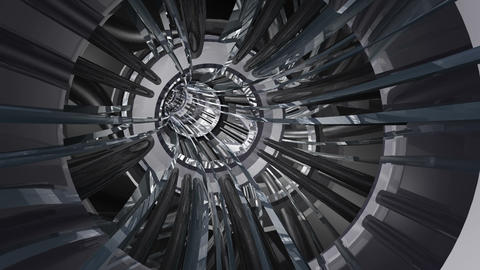 Tunnel tube metal A 01e HD Animation