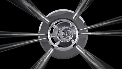 Tunnel tube metal A 01j HD Stock Video Footage