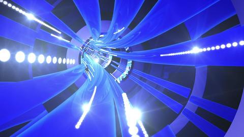 Tunnel tube metal A 01n 2 HD Animation