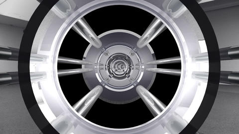Tunnel tube metal A 02j HD Stock Video Footage