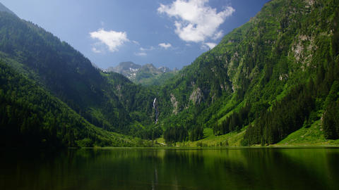Lake in Austrian Alps Stock Video Footage