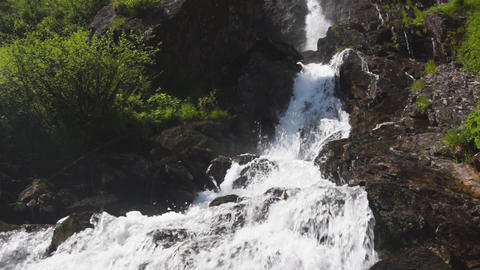 Waterfall in Austrian Alps Stock Video Footage