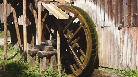 Watermill wheel Stock Video Footage