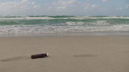 Cuba Message in a bottle at the sea Stock Video Footage