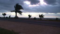 Cuba Sunrise street with cars 2 Footage