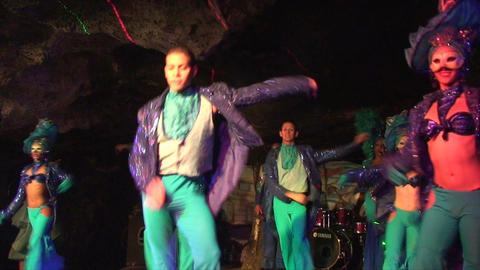 Cuba Varadero Cabaret Cueva del Pirata 2 No Sound Stock Video Footage