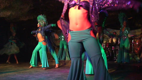 Cuba Varadero Cabaret Cueva del Pirata 2 No Sound Stock Video Footage