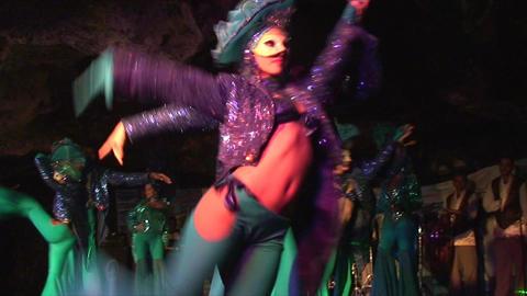 Cuba Varadero Cabaret Cueva del Pirata 4 No Sound Stock Video Footage