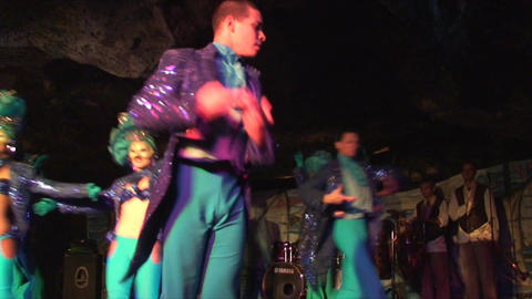 Cuba Varadero Cabaret Cueva del Pirata 4 No Sound Stock Video Footage