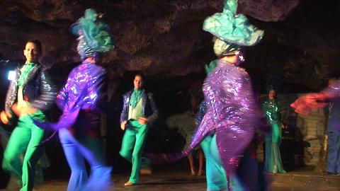 Cuba Varadero Cabaret Cueva del Pirata 6 No Sound Stock Video Footage