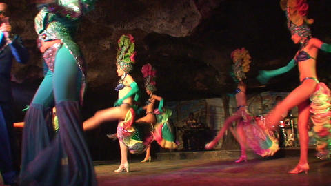 Cuba Varadero Cabaret Cueva del Pirata 8 Stock Video Footage