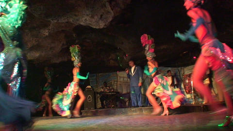 Cuba Varadero Cabaret Cueva del Pirata 10 Stock Video Footage
