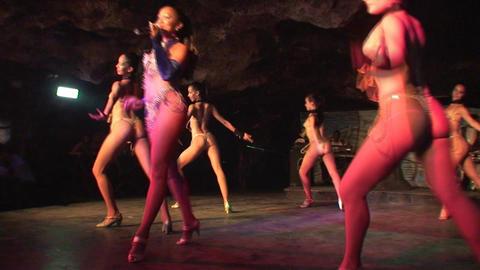 Cuba Varadero Cabaret Cueva del Pirata 12 Stock Video Footage