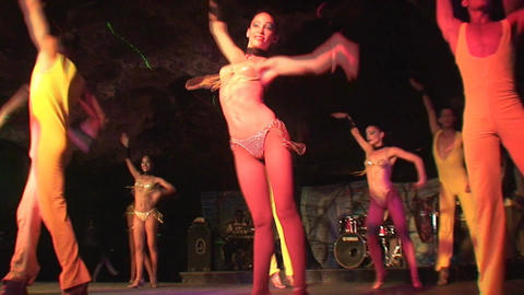 Cuba Varadero Cabaret Cueva del Pirata 14 Stock Video Footage