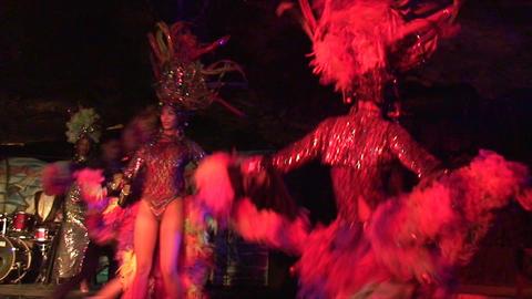 Cuba Varadero Cabaret Cueva del Pirata 16 Stock Video Footage