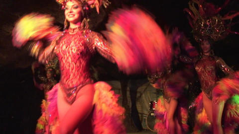 Cuba Varadero Cabaret Cueva del Pirata 16 Stock Video Footage