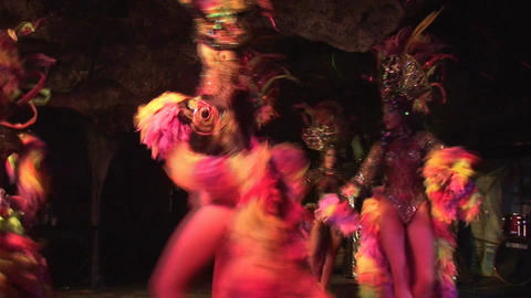 Cuba Varadero Cabaret Cueva del Pirata 18 Stock Video Footage