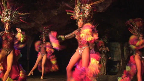 Cuba Varadero Cabaret Cueva del Pirata 18 Stock Video Footage