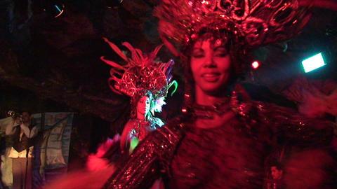 Cuba Varadero Cabaret Cueva del Pirata 20 Stock Video Footage
