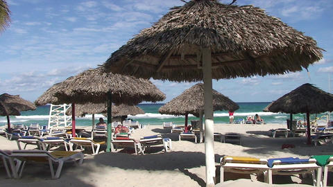 Varadero Beachview 3 Stock Video Footage