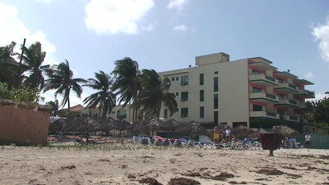 Varadero Hotel los Delfines beach Stock Video Footage
