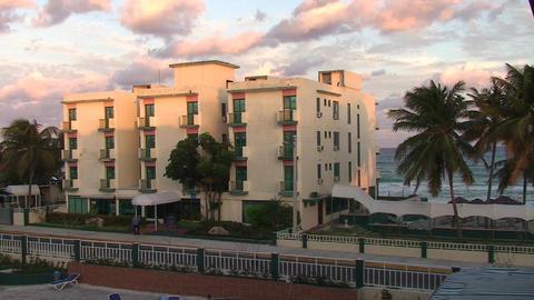 Varadero Hotel los Delfines beach 3 Stock Video Footage