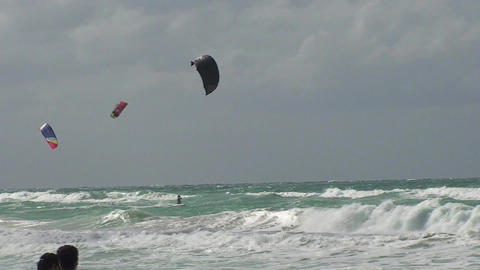 Varadero Kitesurfing 2 Stock Video Footage