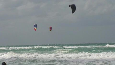 Varadero Kitesurfing 2 Stock Video Footage