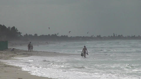 Varadero Kitesurfing 4 Stock Video Footage