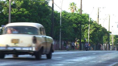 Varadero oldtimer on the street 4 Stock Video Footage