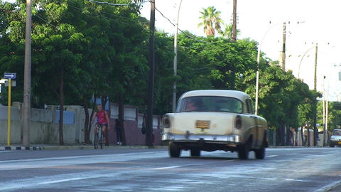 Varadero oldtimer on the street 4 Footage