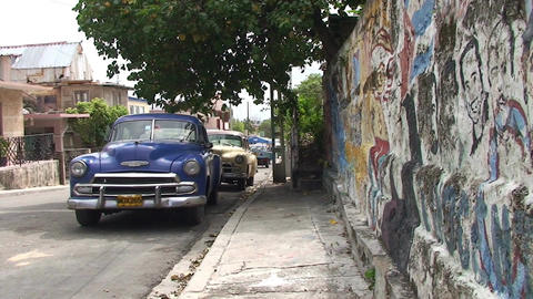 Varadero oldtimer on the street 6 Stock Video Footage