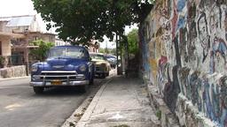 Varadero oldtimer on the street 6 Stock Video Footage