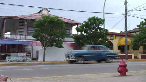 Varadero oldtimer passing by on the street Footage