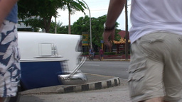 Varadero oldtimer passing by on the street CU Stock Video Footage