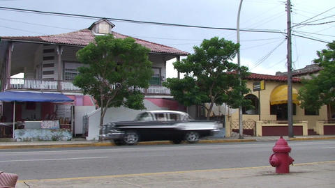 Varadero oldtimers passing by on the street 2 Stock Video Footage