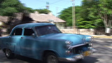 Varadero Panshot Oldtimer And Horsecar On The Stre stock footage