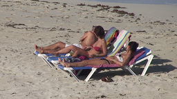 Varadero relaxing at the beach 4 Footage