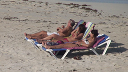 Varadero relaxing at the beach 4 Stock Video Footage