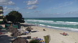 Varadero relaxing at the beach 6 Stock Video Footage