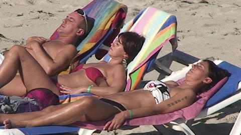 Varadero relaxing at the beach 8 Stock Video Footage