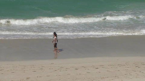 Varadero Sexy girls walking on the beach 6 Stock Video Footage