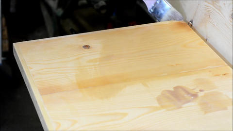 Painting the wood Stock Video Footage