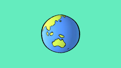 earth line with pink background Animation