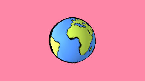 earth map with pink background Stock Video Footage