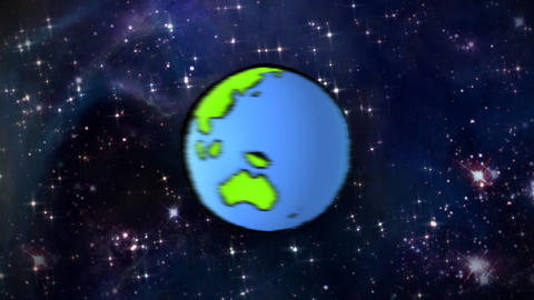 planet line at space Stock Video Footage
